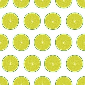 라임, 벡터 일러스트와 함께 밝은 원활한 패턴