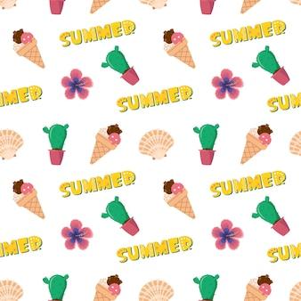 Яркий фон с летними предметами