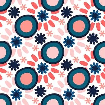 밝은 원활한 벡터 패턴입니다. 직물 또는 종이 배경에 인쇄하기위한 질감