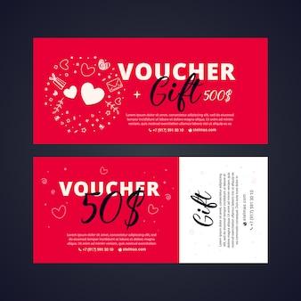 Bright set of gift voucher discount