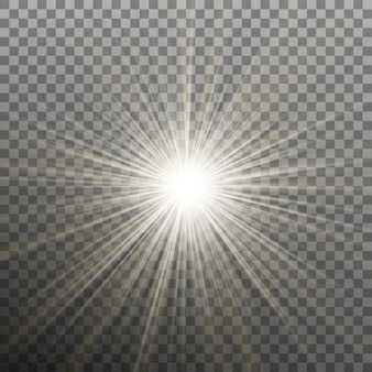 Bright shining star. bursting explosion. transparent background only in
