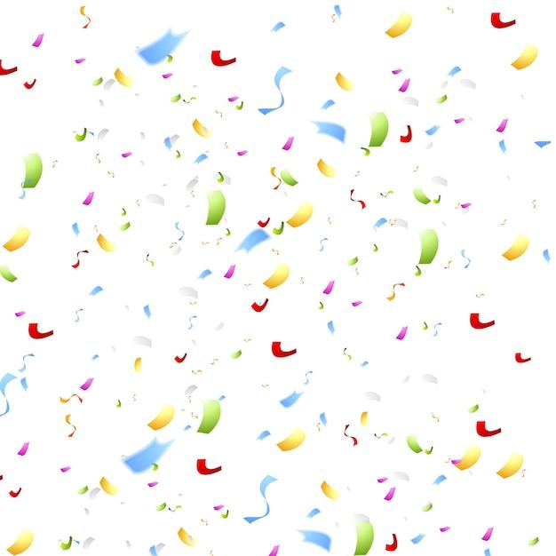 Bright shiny confetti on white background. vector abstract design
