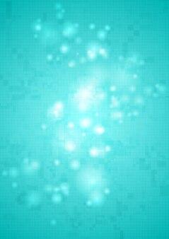 Яркий блестящий голубой абстрактный технический фон. векторный дизайн