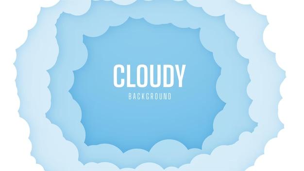 흐린 밝은 하늘 배경. 아름답고 단순한 푸른 하늘 디자인