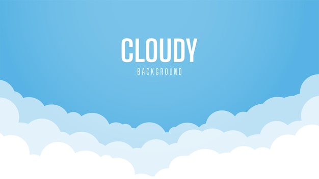 Bright sky background with cloudy. beautiful and simple blue sky  design