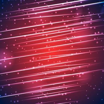 빛나는 직선 광선 및 조명 효과와 밝은 스파클링 추상적 인 배경