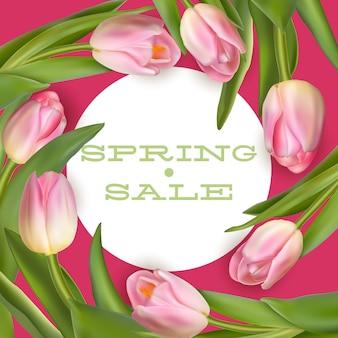 Bright spring sale design.