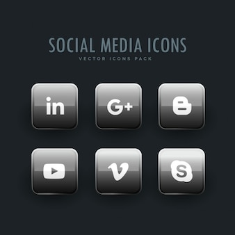 Bright square icons, social networks