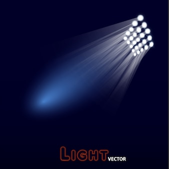 Bright stadium arena lights design.