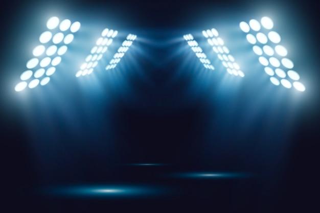 Bright stadium arena lights effect