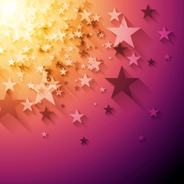Bright stars abstract background. vector design