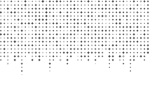 Bright stars background in flat design