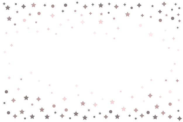 Bright stars frame background design