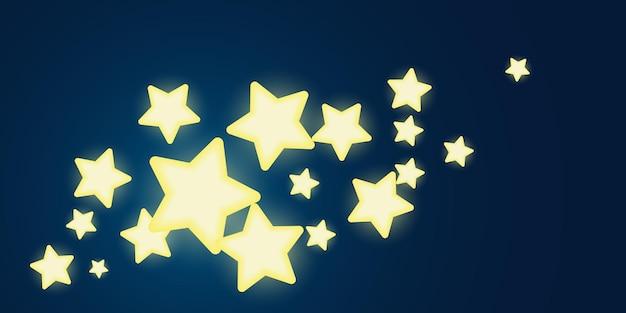 밝은 별 빛나는 달콤한 빛 디자인 배너