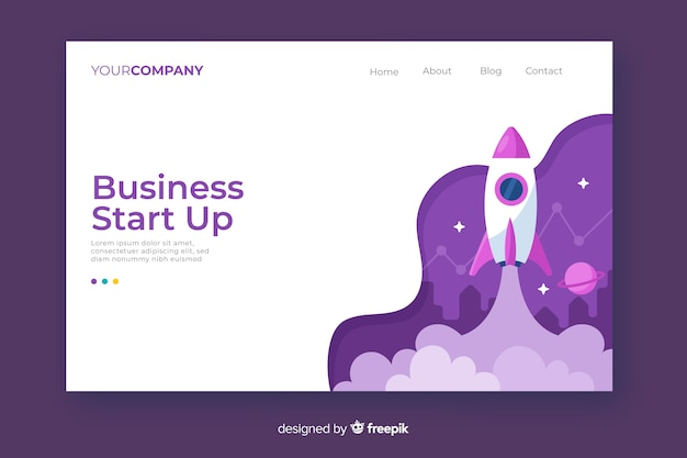 Bright start up landing page