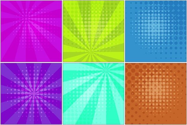 Bright striped backgrounds for comic bubbles