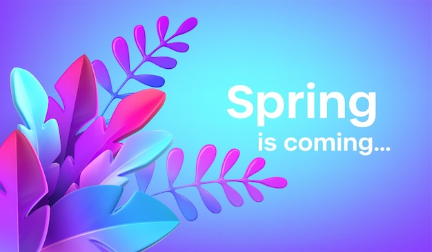 Webdesign neomorphism 스타일의 밝고 세련된 3d 단풍. 광고 배너, 전단지, 전단지, 포스터, 웹 페이지 템플릿. 벡터 일러스트 레이 션 eps10