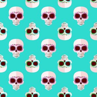 Bright sugar skull pattern.