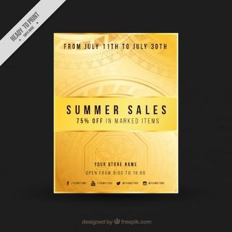 Bright summer sales flyer