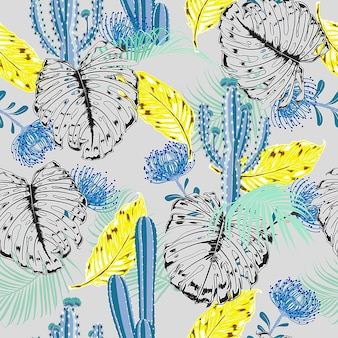Bright summer tropical mood  pattern