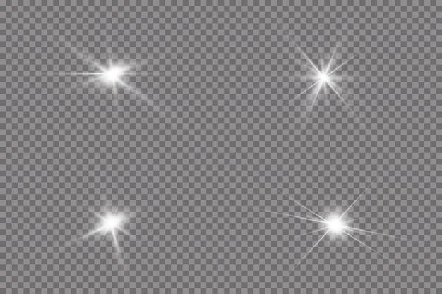 Яркое солнце взрыв сияющая звезда лучей солнца изолированные прозрачном фоне