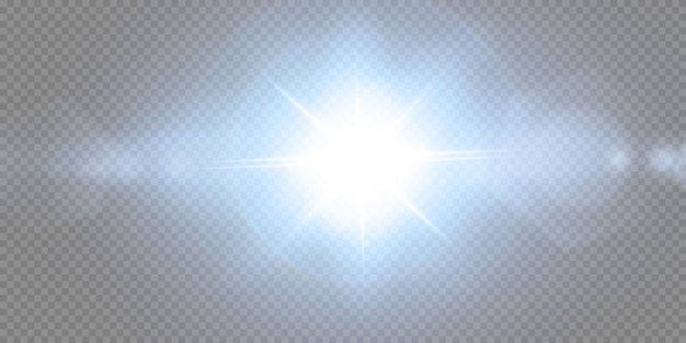 Иллюстрация яркого солнечного света