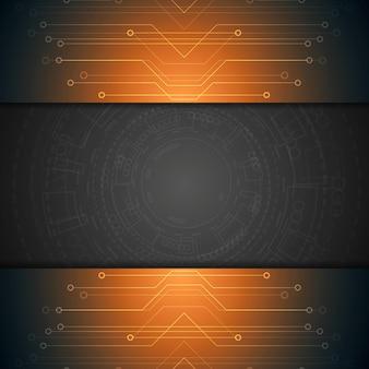 明るい技術の背景。ベクトルデザイン