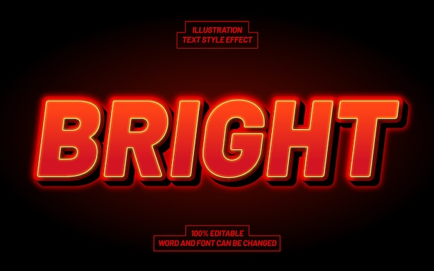 Bright text style effect