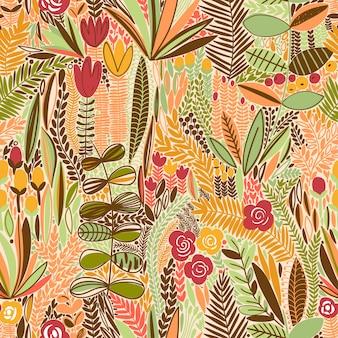 Bright tropical leaf seamless pattern.