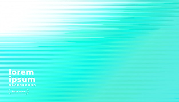 Bright turquoise abstract lines background
