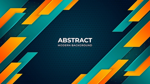Bright turquoise and orange colors modern background design