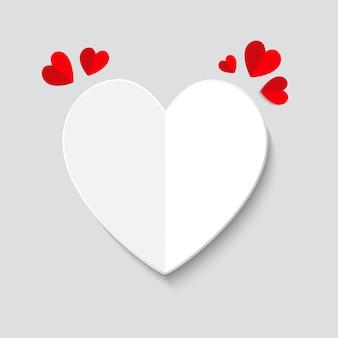 明るいバレンタインデーの背景