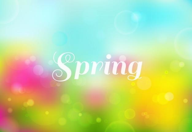 Яркий весенний цветной фон с эффектом боке
