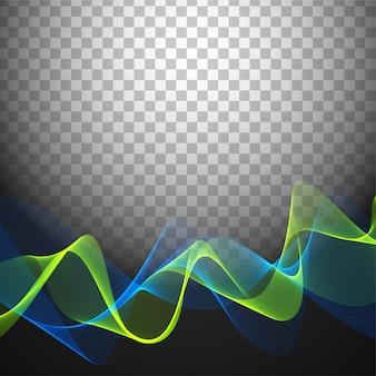 Bright wavy transparent background