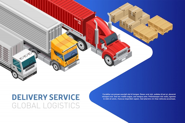 Bright web design for global logistics