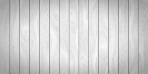 Bright white realistic wooden boards with texture