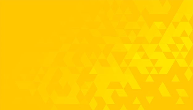 Bright yellow background with triangle pattern