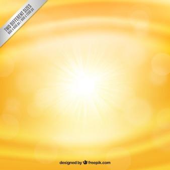 Bright yellow bokeh background