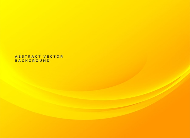 Bright yellow elegant wavy background