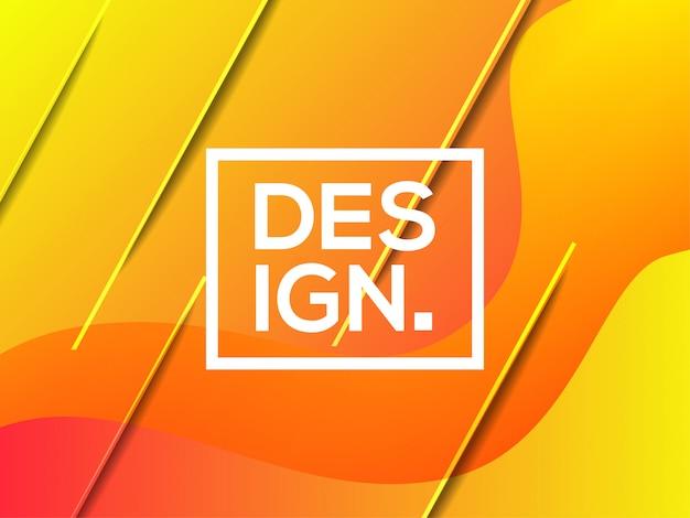 Bright yellow gradient modern background