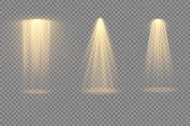 スポットライトプロジェクターライト効果を備えた明るい黄色の照明