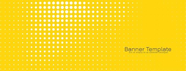 明るい黄色のモダンなハーフトーンデザインバナー