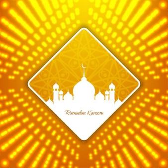 Bright yellow ramadan kareem background