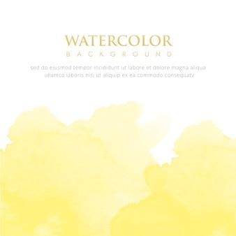 Яркий желтый акварельный фон