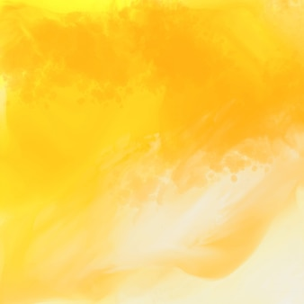 Bright yellow watercolor texture background