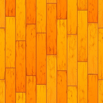 Bright yellow wooden boards in row seamless pattern
