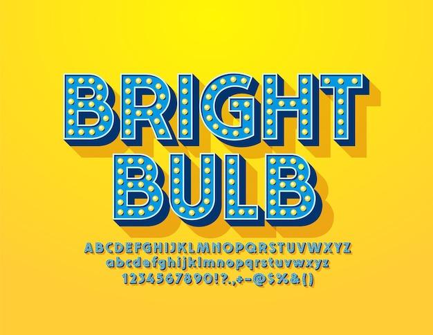 Brigth 전구 유행 글꼴.