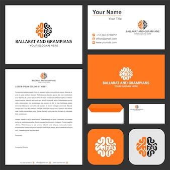 Логотип brilian tech с визитной карточкой