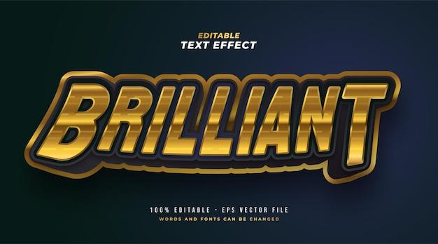 Brilliant editable text style effect