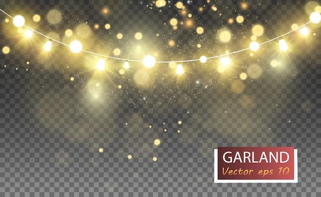 Блестящий золотой блеск. сверкающие блестящие украшения для фона. иллюстрации.